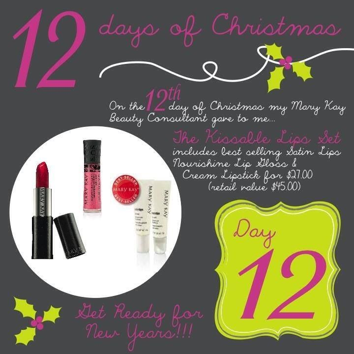 Mary Kay 12 Days of Christmas Call or Text ANYTIME: (832) 278-5133 eaboyd@marykay.com www.marykay.com/eaboyd www.facebook.com/eaboyd06