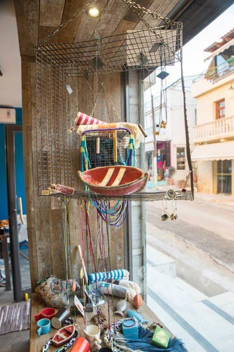 Store's jewellery pottery display