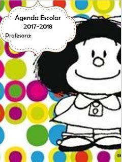 AGENDA ESCOLAR VERSIÓN MAFALDA 2017-2018 PARA IMPRIMIR