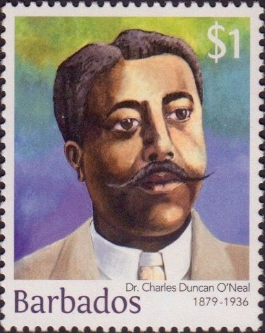 Dr Charles Duncan O'Neal $1 - Barbados Stamps