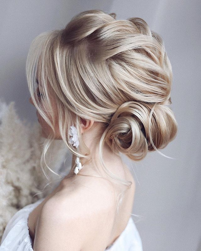 57 Peinados Recogidos De Moda Practicos Y Fascinantes 2019 Medium Hair Styles Braided Hairstyles For Wedding Wedding Hair Half
