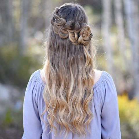 Lace Pull Through 💜 you can find the tutorial for this style over on the @cutegirlshairstyles YouTube channel 🎥 #CGHLacePullThru