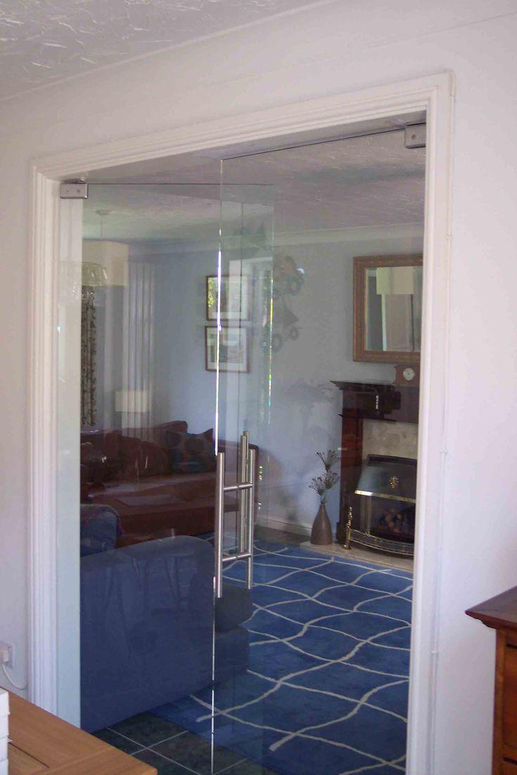 Interior clear glass door - Clear Glass Door With T Bar Handle