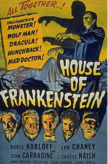 #50s #movie #poster #horror #macabre #frankenstein #dracula