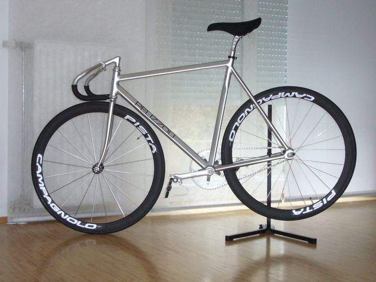 Pelizzoli track bike with Campagnolo Pista wheels