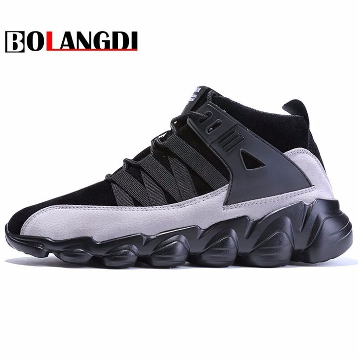 BOLANGDI 2018 Thick bottom Men Running Shoes Comfort Male Athletic Shoes New Design Trainer Sport Outdoor Tide Sneakers 39-46