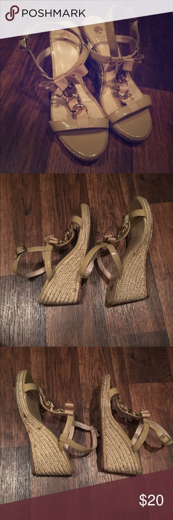 Nude espadrilles Kate Spade Cute chains. In good but used condition kate spade Shoes Espadrilles
