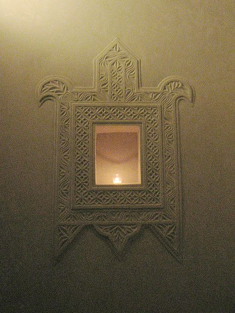 lamu house niche light mirror ethnic carved moulding