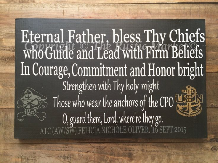 United States Navy CPO Hymn wood sign. Chief Gift - Military - U.S. Navy - Chief Petty Officer by RusticMarketbyNikki on Etsy