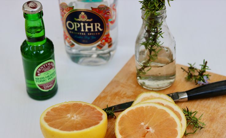 Aromatic Gin and Tonic made with Opihr Gin and Fentimans Herbal Tonic Water