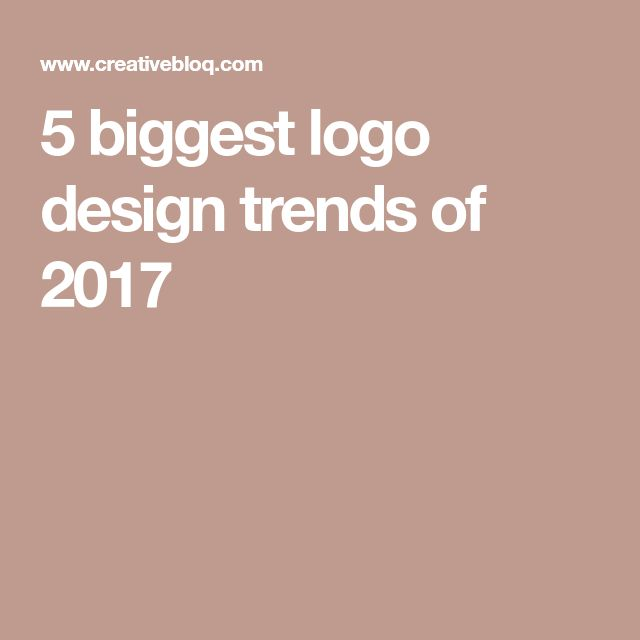 5 biggest logo design trends of 2017