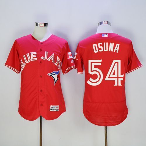 Blue Jays #54 Roberto Osuna Red Flexbase Collection Canada Day Stitched Baseball Jersey