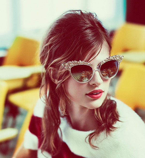 dsquared: Shades, Catey, Fashion, Style, Ads Campaigns, Red Lips, Ray Ban, Mert Marcus, Cat Eye Sunglasses