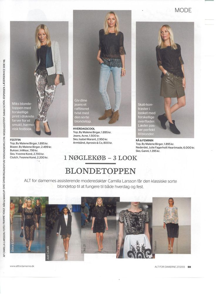 Julie Fagerholt / Heartmade skirt in the Danish magazine @AltForDamerne