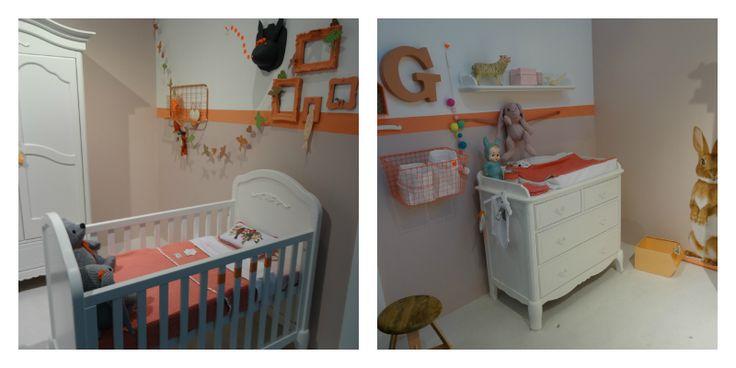 babykamer inspiratie oranje - Lippenstift & Luiers