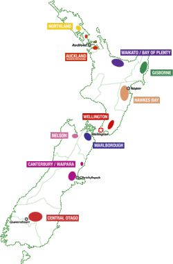 New Zealand wine regions...and I visited them all. The regions....way to many vineyards to visit in a lifetime.