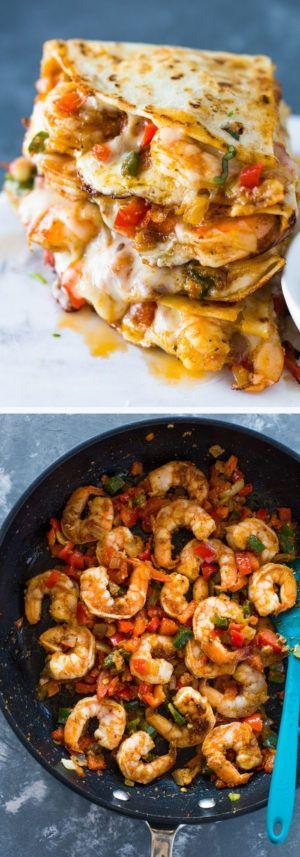 The Best Ever Shrimp Quesadillas