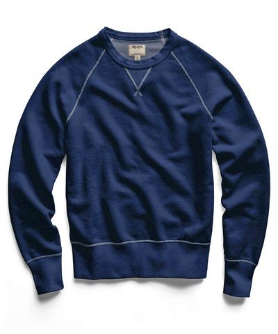 What We Want: Indigo Classic Crew Sweatshirt by Todd Snyder
