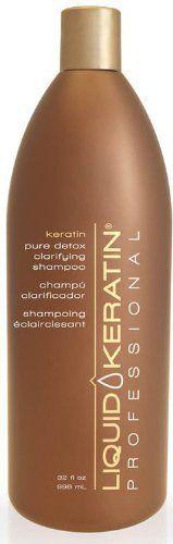 Liquid Keratin Professional Pure Detox Clarifying Shampoo 32 Ounce >>> Click image for more details.