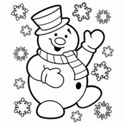 christmas color page snowman | Snowman Coloring Page - Free Christmas Recipes, Coloring Pages for ...
