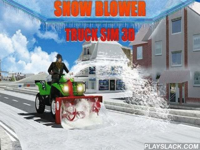 Snow Blower: Truck Sim 3D  Android Game - playslack.com , Control a snow blower and cleanable the anchorages from mountains of snow, the phenomenon of an intense precipitation. The outbreak of the storm inactivated  traffic of a big municipality. In this Android game you'll have to remove the descending  snow and free the anchorages from drifts. finish different work and clear the anchorages as soon as accomplishable. steer different snow devices, from a tiny tractor to a big and tough truck…