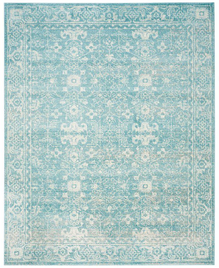 """Safavieh Evoke EVK270D Light Blue/Ivory 6'7"""" x 9' Area Rug"""