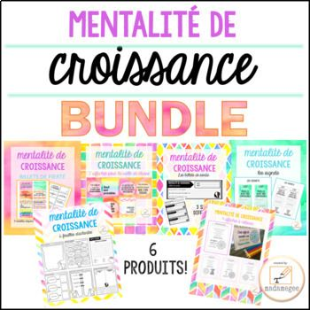 Understanding and fostering a growth mindset in students has become a priority for teachers across grade levels and curriculum areas. These products have been designed for use grade 4-8 French classrooms. A set of 6 of my growth mindset products all bundled into one, nice discounted package.