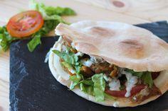 Shawarma o kebab de cordero casero sin lactosa