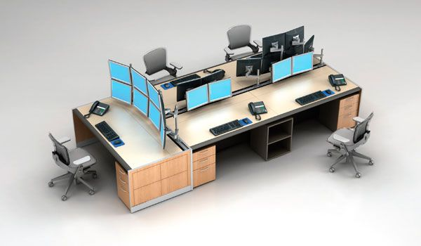 Trading desks trading rooms trading room furniture for Furniture exchange