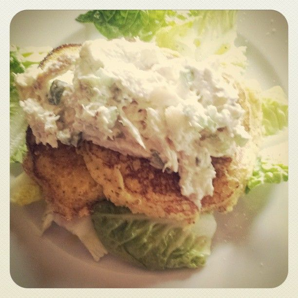 Johnny cakes With smoked trout and horseradish cream