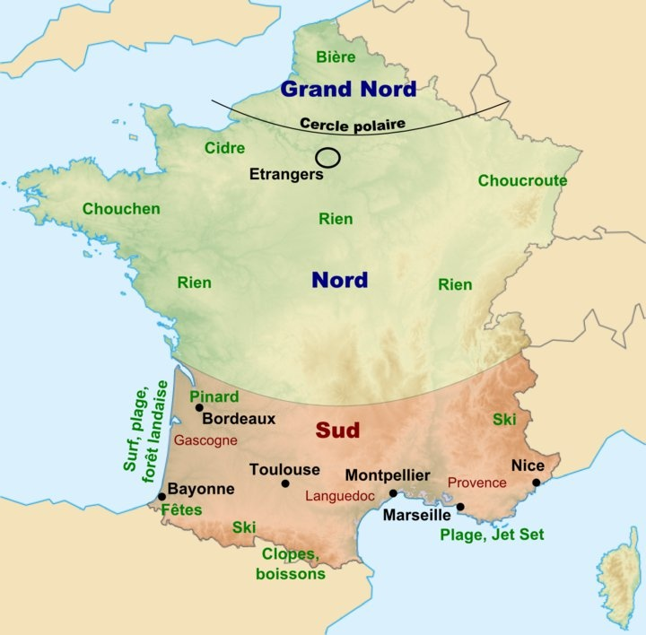 C'est où la France d'en haut? x)