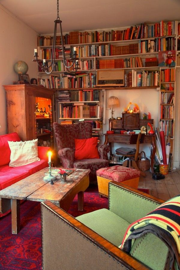 There's nothing like a room full of books to keep you cozy on a winter day