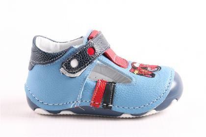Pepee Erkek Çocuk Mavi Hakiki Deri Phaylon Taban Ortopedik İlk Adım Bebe Ayakkabı