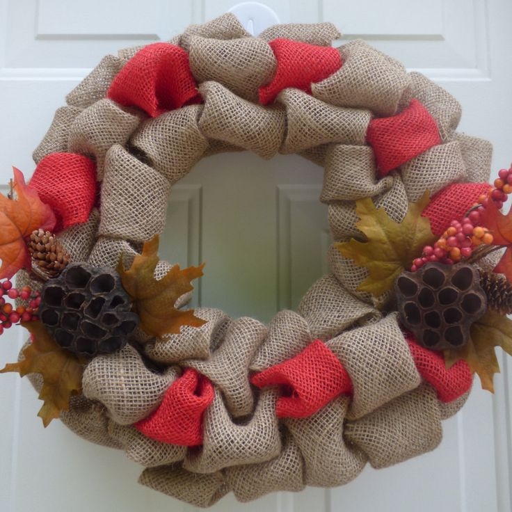 Fall Door Wreaths, Fall Burlap Wreaths, Fall Wreath,Fall Wreath for Front Door,Autumn Wreath,  Outdoor Wreaths, Fall Door Decorations by OneofaKindWreath on Etsy