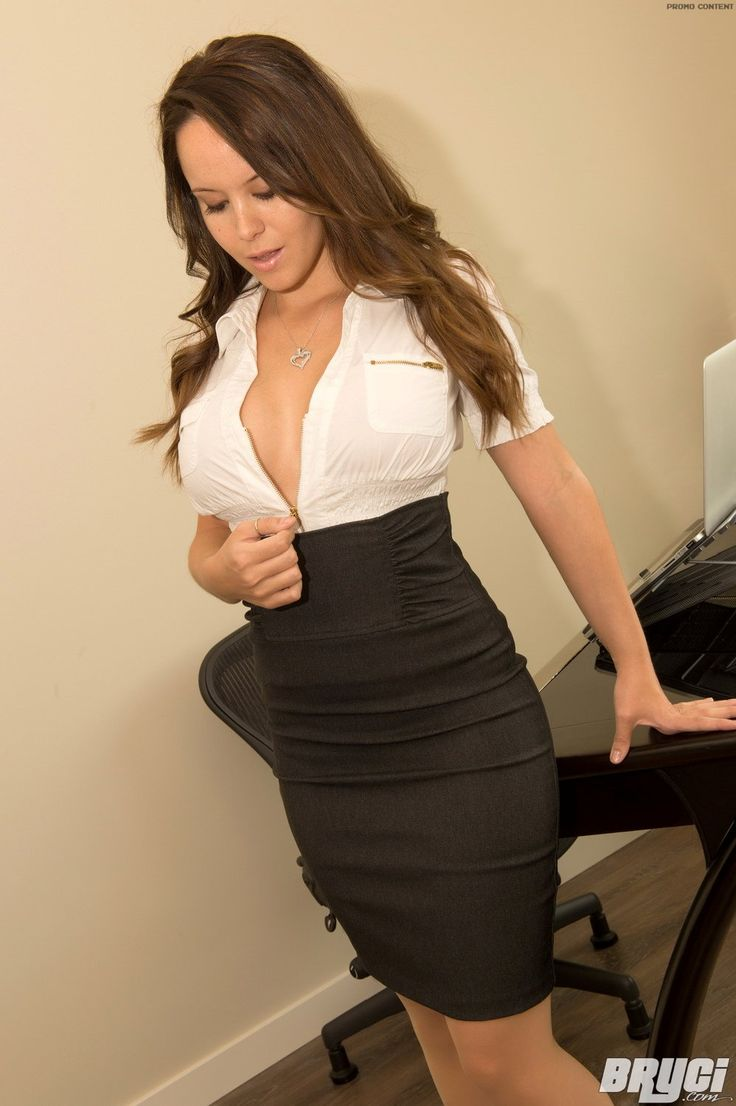 Busty women in the office