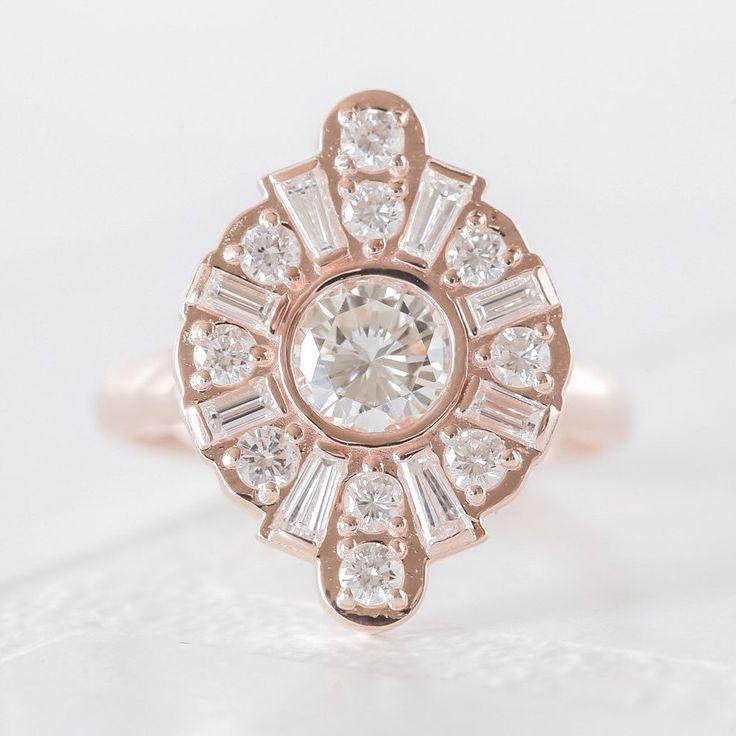 Rose Gold Art Deco Engagement Ring - Custom Engagement Rings - DEPOSIT ONLY- Custom Jewelry Design - Custom Rings by Anueva Jewelry by AnuevaJewelry on Etsy https://www.etsy.com/listing/269307167/rose-gold-art-deco-engagement-ring