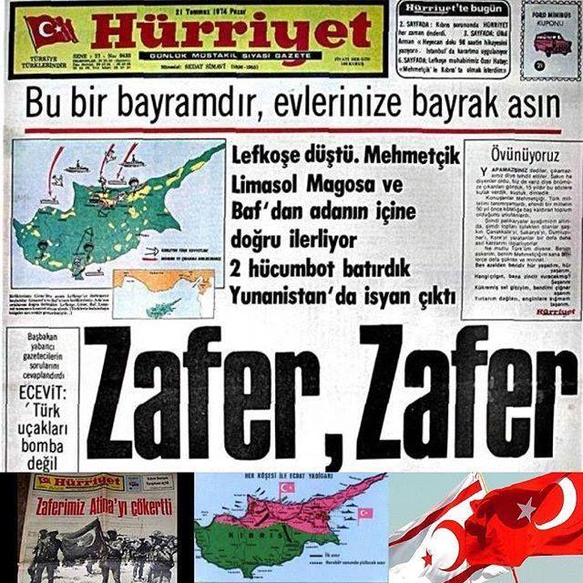 #TarihteBugün #Kıbrıs Barış Harekatı'nın 41. Yıldönümü. Şehit ve Gazi Mehmetçiklerimizi saygı ve dua ile... Suriye -Irak Türkmenelili Türkmenleri de unutmayınız.