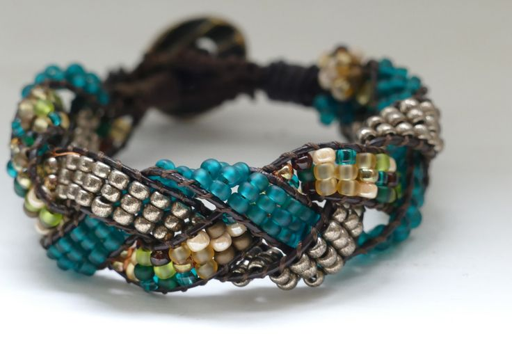 A personal favorite from my Etsy shop https://www.etsy.com/listing/293595103/braided-bluegreen-wrap-bracelet-braided
