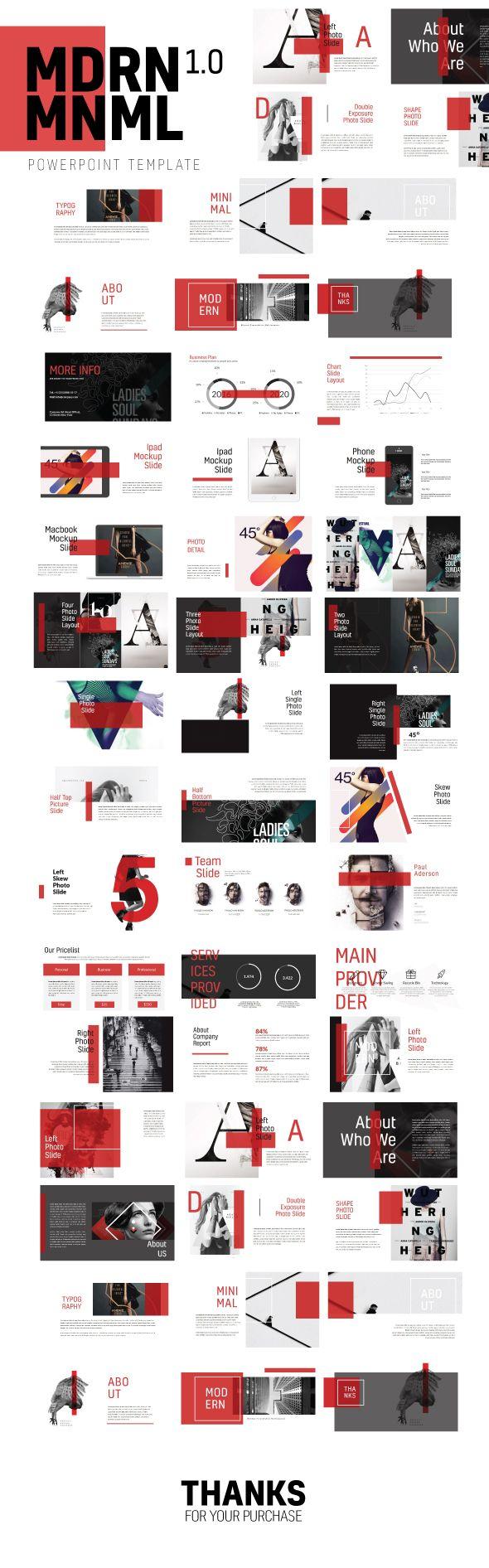 Mdrn Mnml Powerpoint Template Multipurpose - Creative PowerPoint Templates