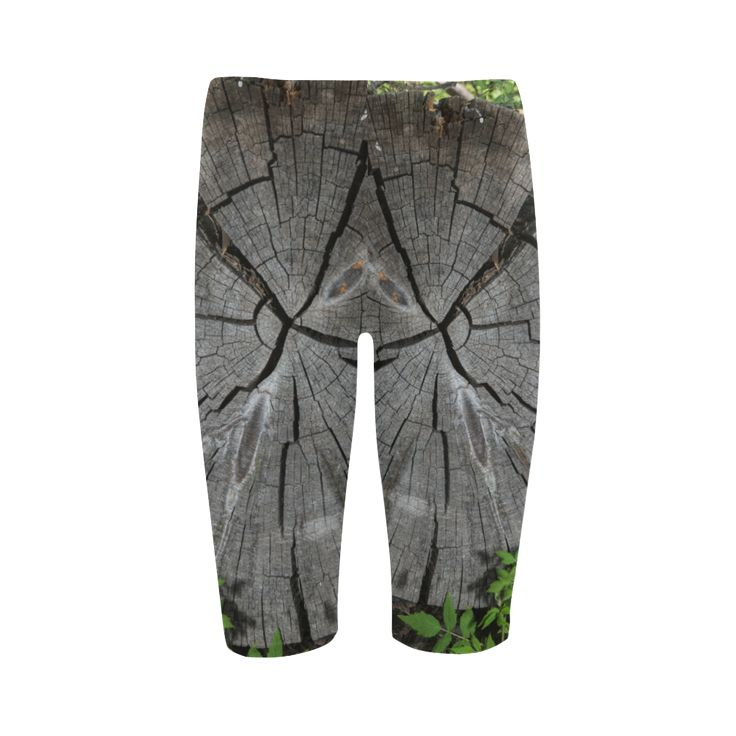 Dried Tree Stump Cropped Leggings