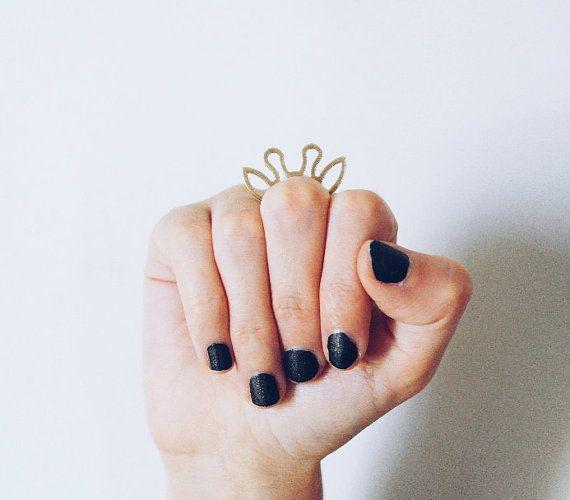 this here giraffe // brass giraffe ring, giraffe jewelry, giraffe ears, animal ears ring, dainty ring, brass stacking ring