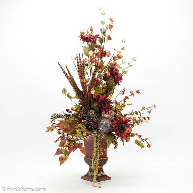 Autumn Silk Flower Arrangement Finishing Touches For Our Addition Pinterest Silk Flower
