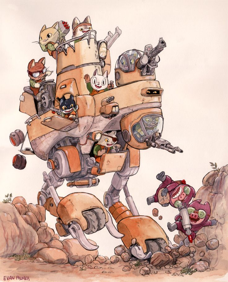 These Cartoon Animals Are The Most Adorable Mech Pilots In The Universe