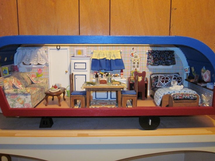 17 Best Images About Travel Trailer Dollhouse On Pinterest