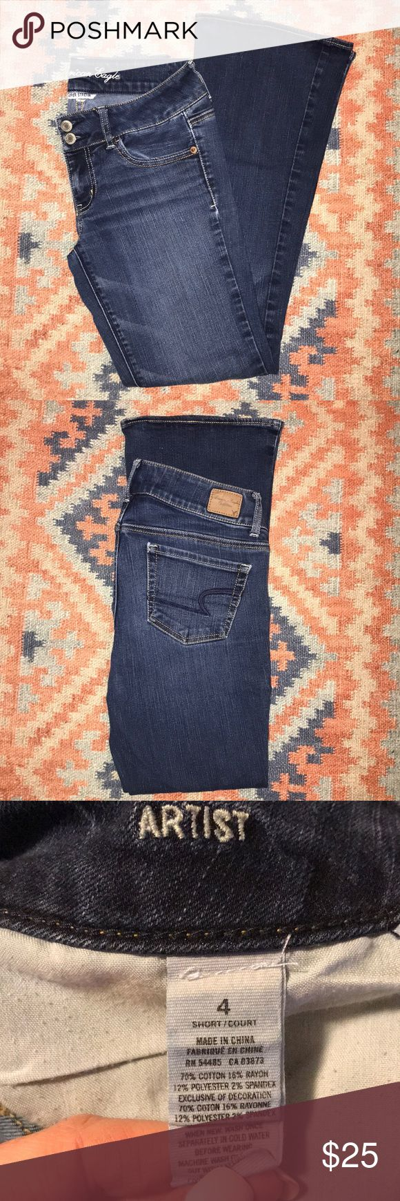"""American Eagle Outfitters Artist Jeans Size 4-Short """"Super ..."""