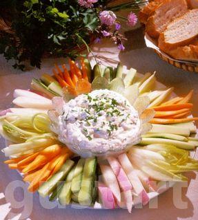 sajtkrémes mártogató