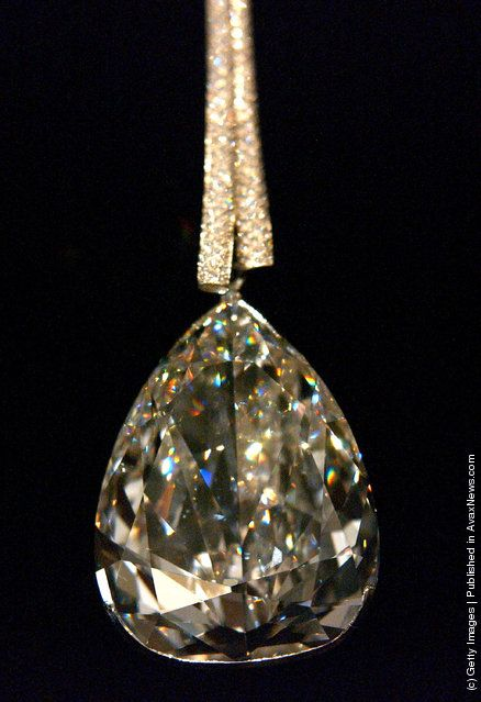 The De Beers Millenium Star diamond at the Smithsonian Museum of Natural History