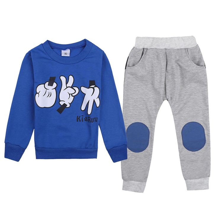 Cool 2-7Y Autumn Winter Kids Clothes Set Baby Boys Girls 2 Pcs Top + Pants Finger Games Tracksuits Children Outfit Clothing Sets - $20.55 - Buy it Now!