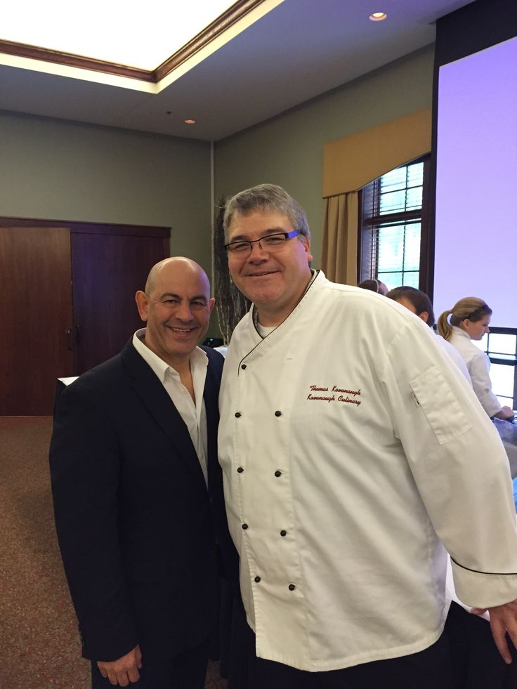 """Chef Thomas Kavanaugh with Simon Majumdar of the Food Network and Author of """"Fed, White and Blue"""""""