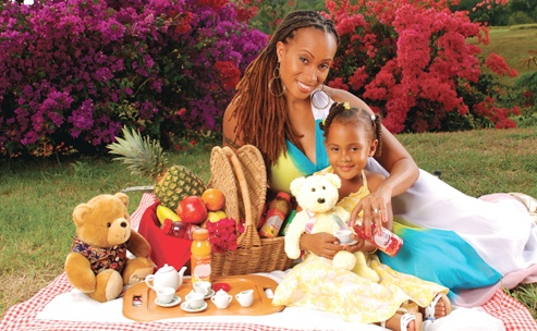 #Alison #Hinds and her daughter Saharan #Barbados ...